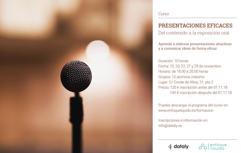 Curso: Presentaciones eficaces. Del contenido a la exposición oral